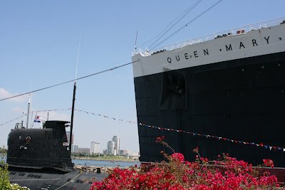 Queen Mary and Scorpion Russian submarine at Long Beach
