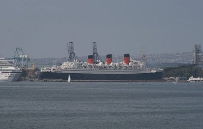 Queen Mary docked at Long Beach seaport