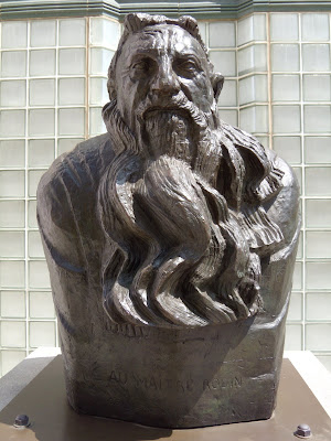 Bust of Rodin bronze sculpture by Bourdelle