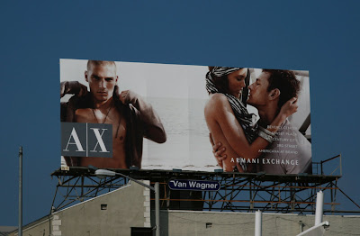 Armani Exchange male fashion billboard