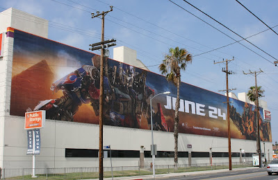 Transformers 2 extra large movie billboard