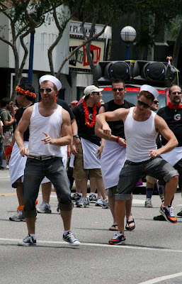 Gay Men's Chorus entertain crowds at at West Hollywood Pride 2009