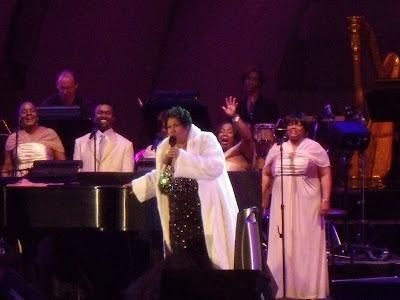 Singing legend Aretha Franklin at The Hollywood Bowl