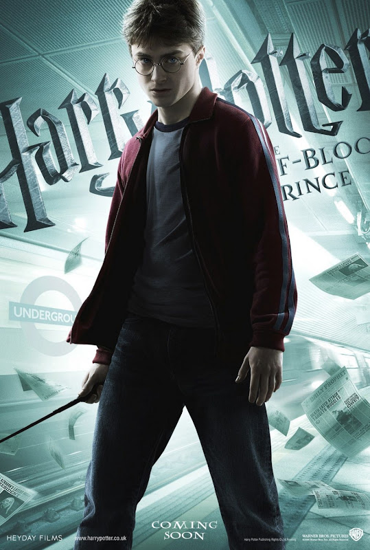 Daniel Radcliffe from Harry Potter 6 movie poster