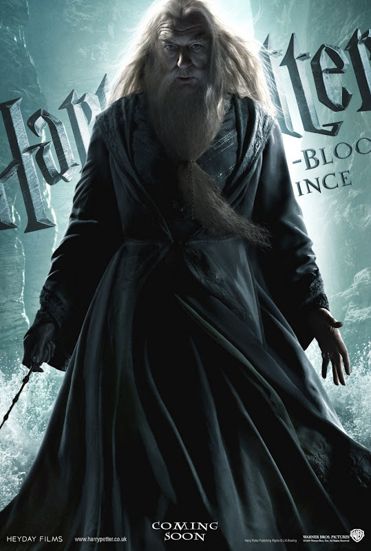 Michael Gambon as Dumbledore Harry Potter 6 movie poster