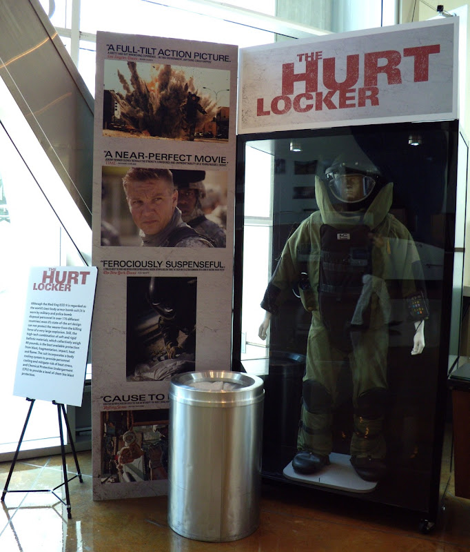 The Hurt Locker movie bomb suit costume display