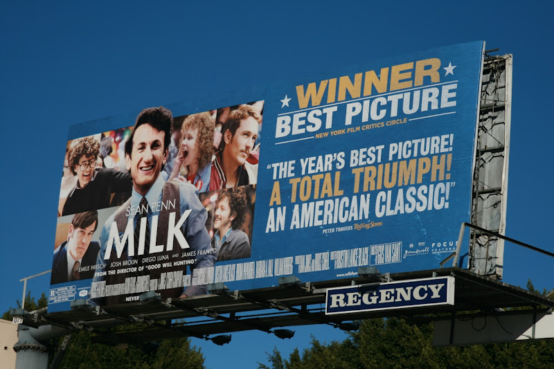 Milk film billboard Sunset Blvd