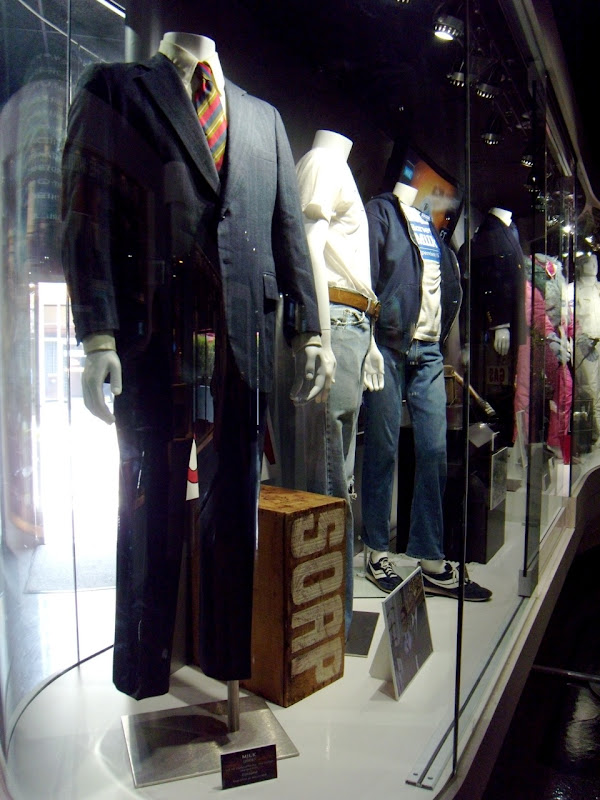 Universal Studios Milk movie costume display
