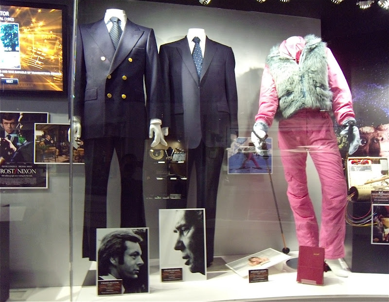 Frost Nixon and Bridget Jones movie costumes display