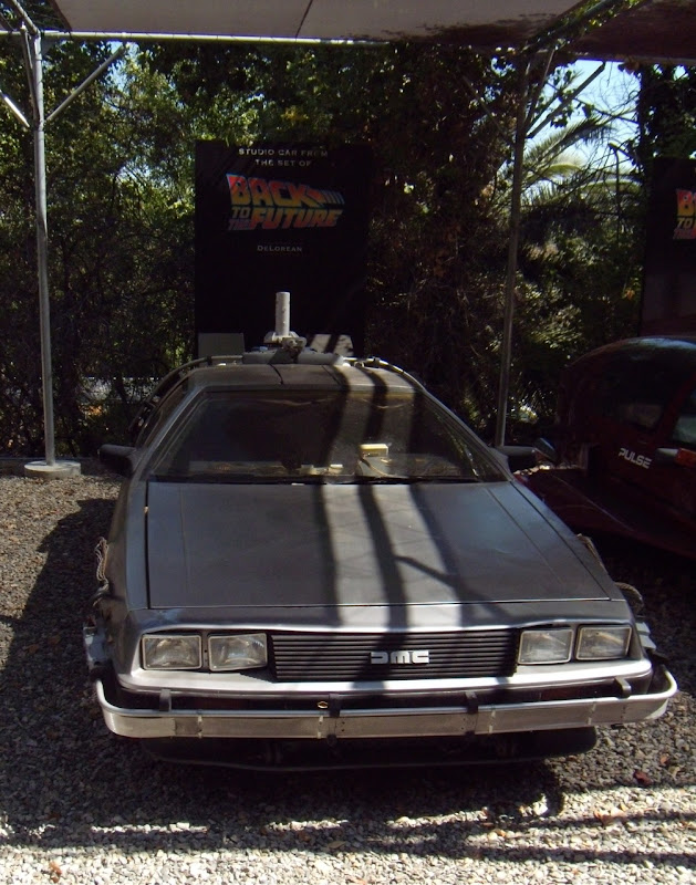 Actual Back to the Future DeLorean car