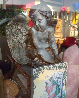Thoughtful psychic angel