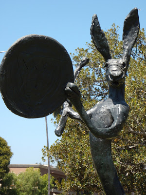Barry Flanagan's The Drummer sculpture