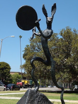 The Drummer statue in Beverly Hills
