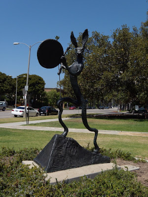 The Drummer bronze sculpture