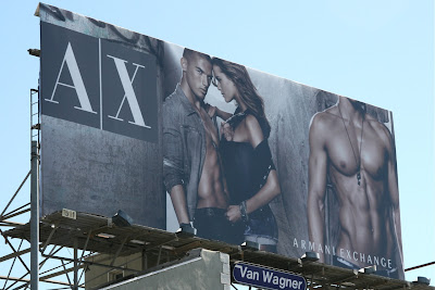 Sexy Armani Exchange male model billboard
