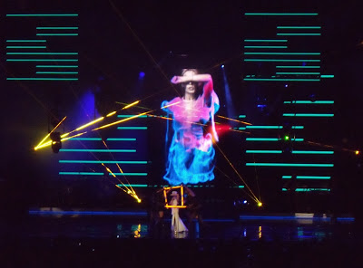 Kylie Minogue lightshow at Hollywood Bowl concert