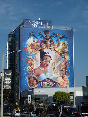 Disney Princess and The Frog animated movie billboard