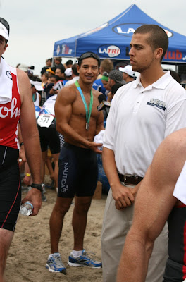Mario Lopez after Malibu Triathlon 2009