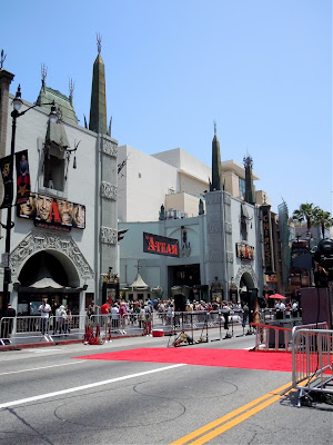 A-Team movie premiere set-up Hollywood