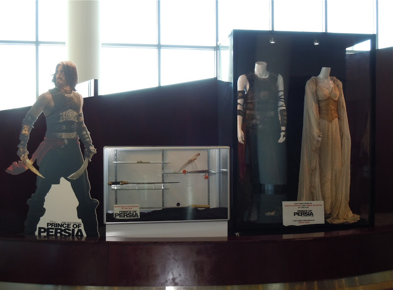 Prince of Persia movie costume and prop exhibit