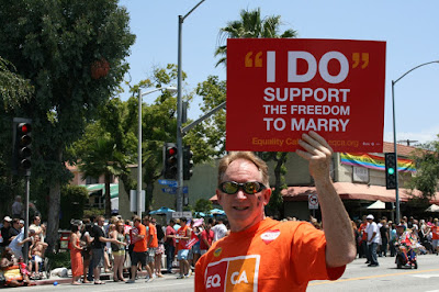 Support Gay marriage LA Pride 2010