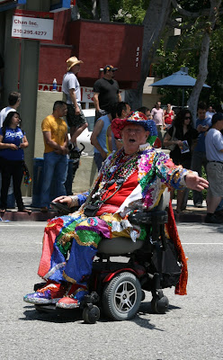 West Hollywood Pride Parade glittering wheelchair 2010