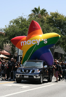 Macy's float West Hollywood Pride Parade 2010