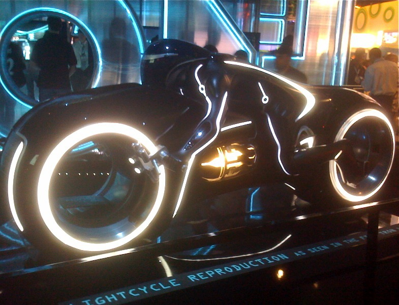 Tron Legacy Lightcycle reproduction E3 Expo