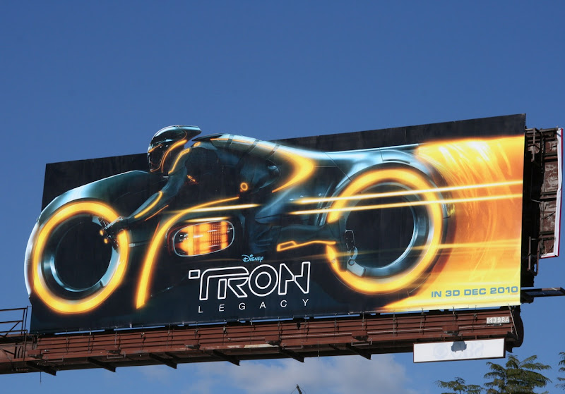 Tron Legacy Lightcycle movie billboard