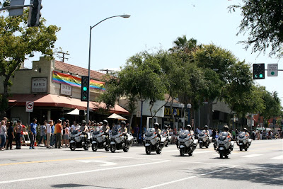West Hollywood Gay Pride police 2010