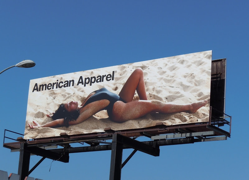 American Apparel swimsuit model billboard