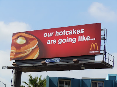 McDonalds like hotcakes billboard
