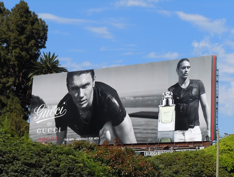 Gucci male model fragrance billboard