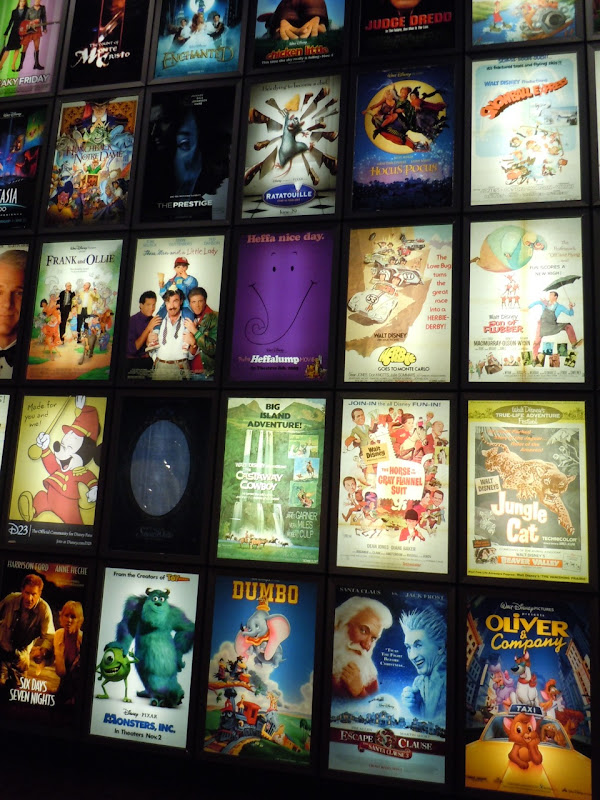 ArcLight's Disney storyboard poster wall