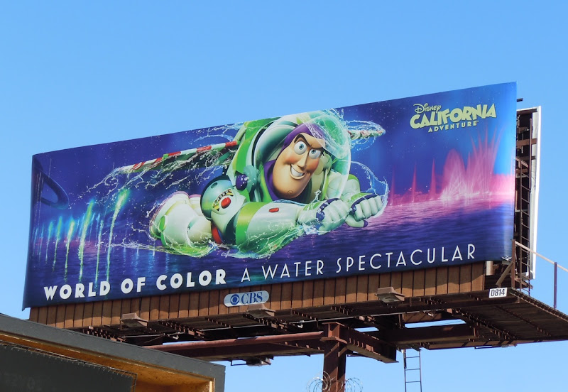 Buzz Lightyear World of Colour billboard