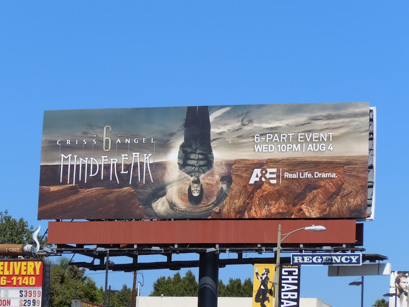 Criss Angel Mindfreak TV billboard