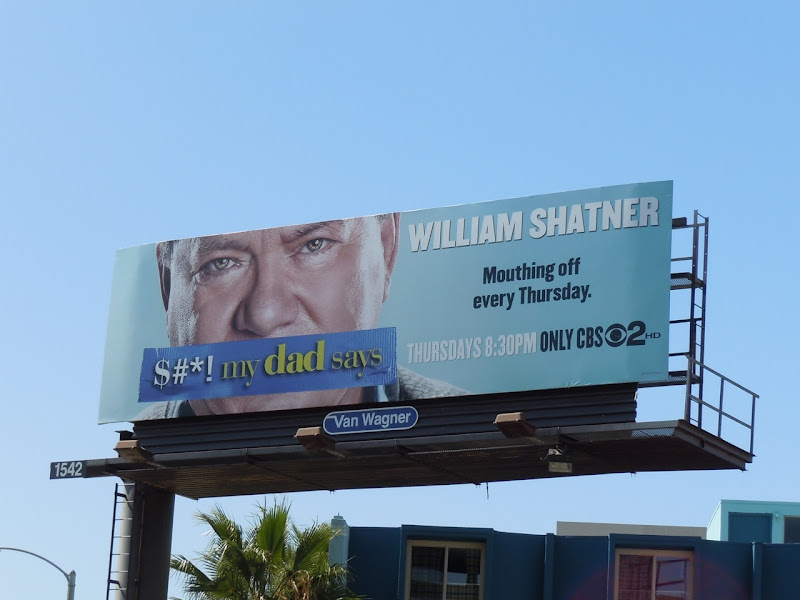 William Shatner TV billboard