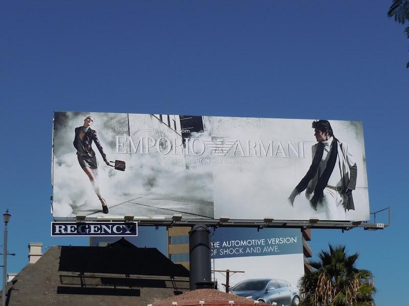 Emporio Armani Autumn 2010 fashion billboard
