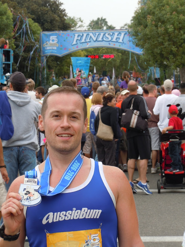 Disneyland Half Marathon 2010 finish