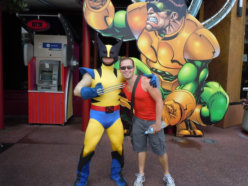 Wolverine and Jason at Universal Studios