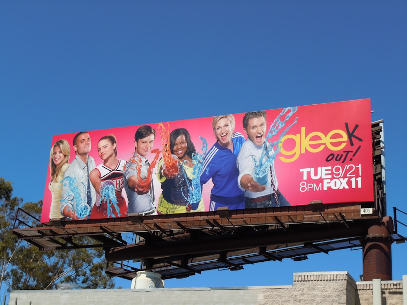 Glee Gleek Out season 2 TV billboard