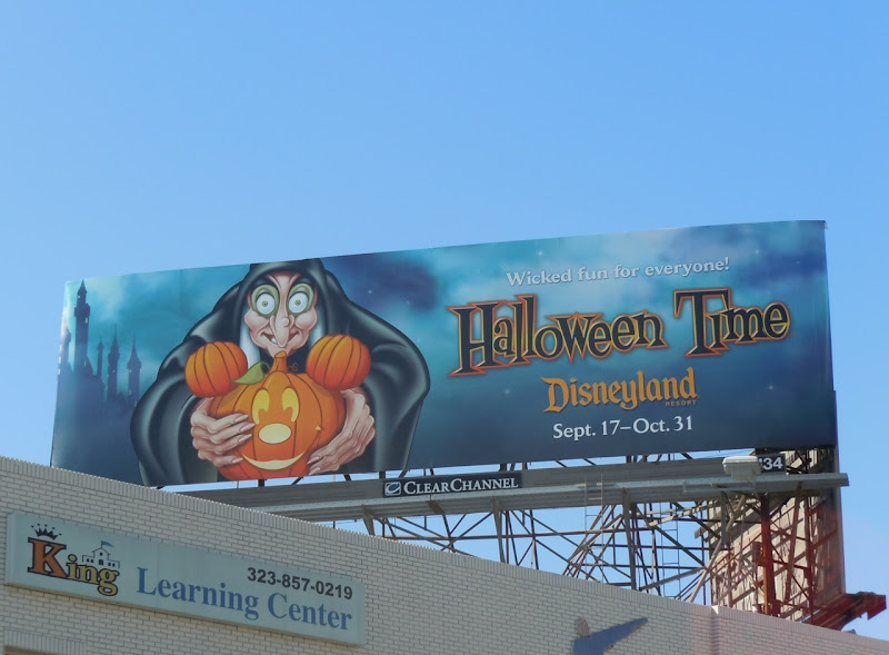 Disney Halloween Mickey pumpkin billboard