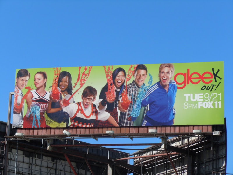 Glee season 2 slushie TV billboard