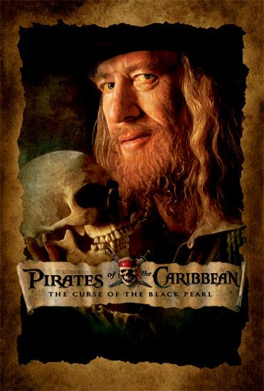 Pirates of the Caribbean Captain Barbossa poster