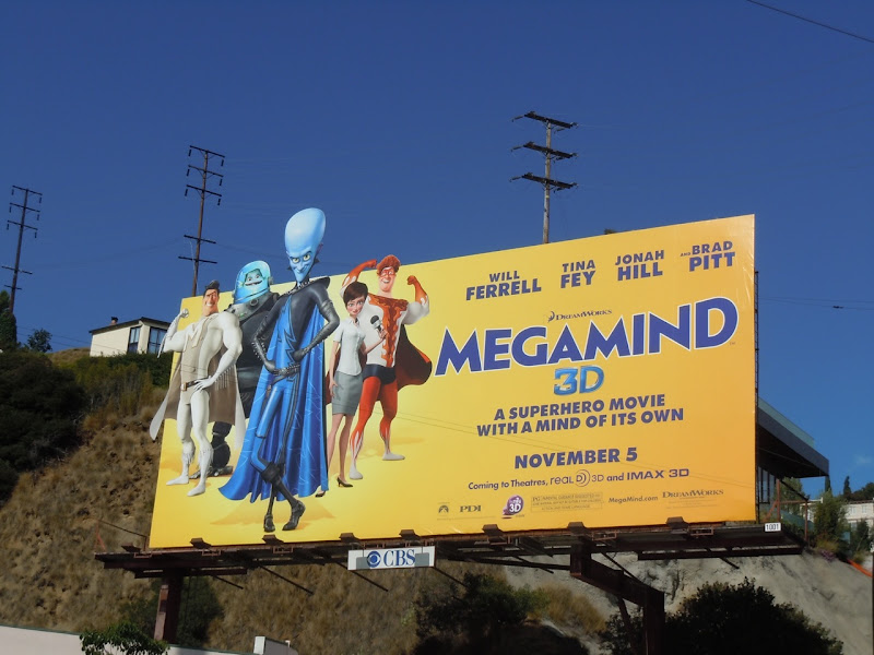 Megamind superhero movie billboard