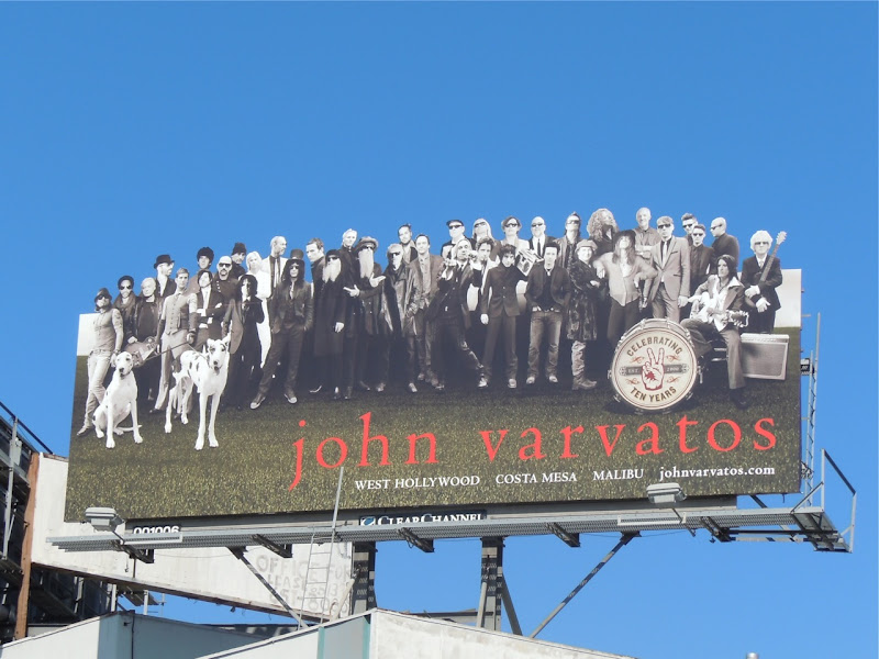 John Varvatos 10 years billboard