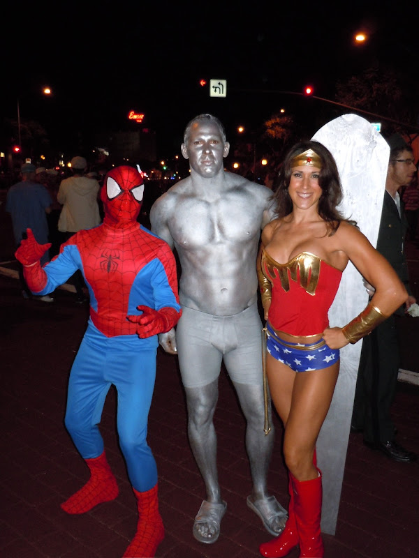 West Hollywood Halloween Silver Surfer and friends