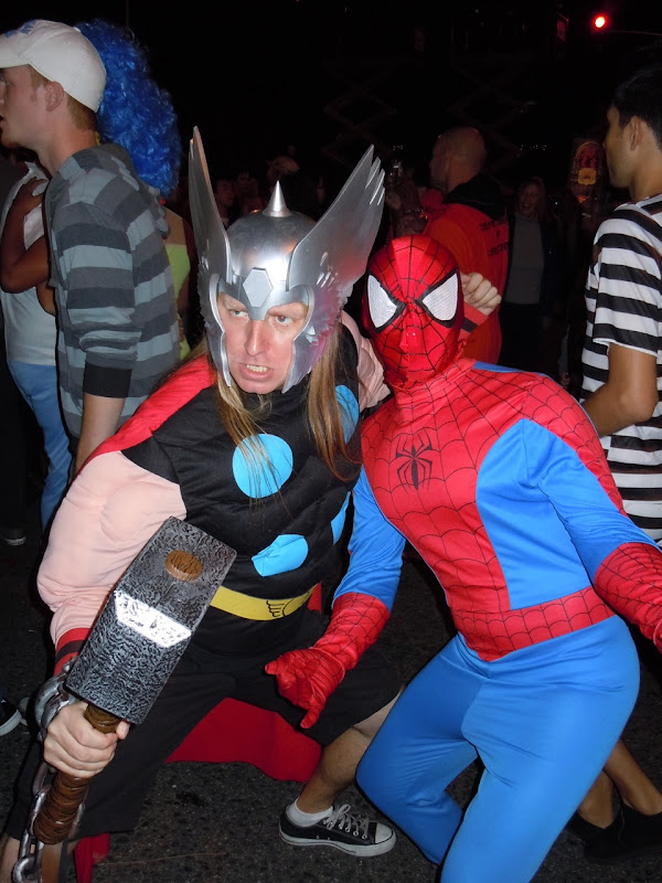 West Hollywood Halloween Thor and Spidey