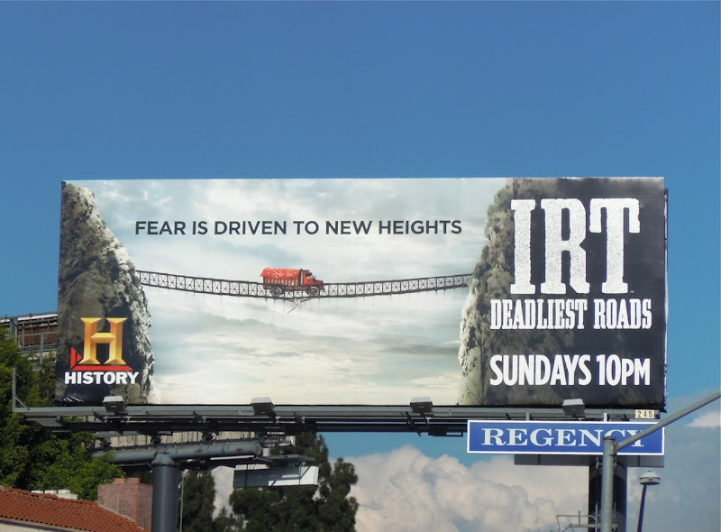 IRT Deadliest Roads billboard