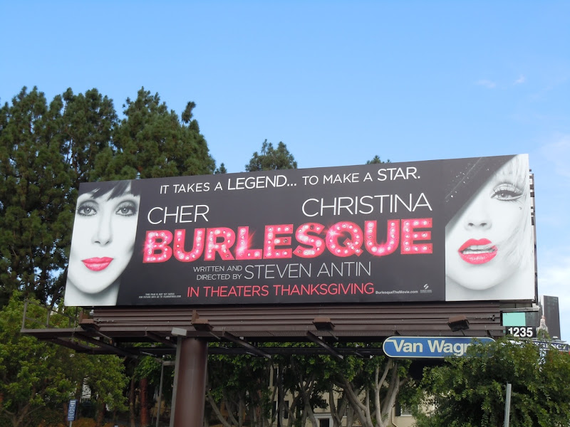 Burlesque film billboard